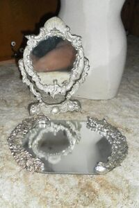 Heritage-Mint-Ltd-Silver-Plated-Mirror-w-Roses-Free-Style-Mirror