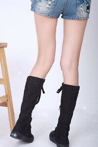 CHIC-WOMENS-Punk-Canvas-Sneakers-Flat-Platform-Shoes-Knee-High-Boots-YSH-0119