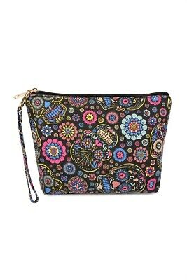 Sugarskull Make Up (Black Sugar Skull Art Print Cosmetic Bag)