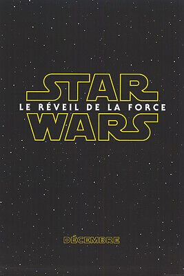 Star Wars the Force Awakens - original DS movie poster - 27x40 D/S FR CA