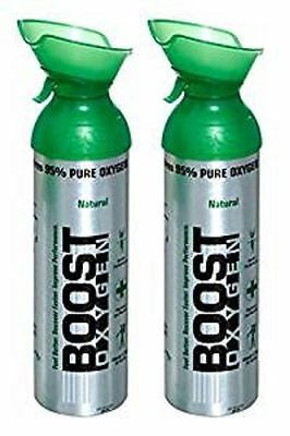 2 pk BOOST OXYGEN NATURAL ENERGY BOOSTER IN A CAN 22 OUNCE OZ