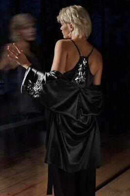 HANRO SELECT Real Silk beaded Kimono gown robe UK10-12 Agent P style £600