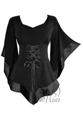 Dare to Wear Victorian Gothic Plus Size Treasure Corset Top Black Pirate (Gothic Plus Size Kostüme)