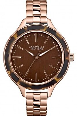 New Caravelle New York by Bulova 44L128 Womens Analog Brown Dial Quartz Watch