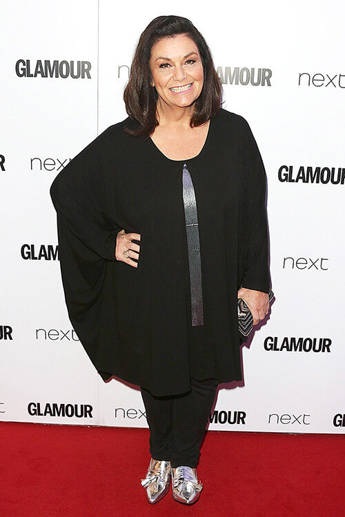 Dawn French's silver shoes add a touch of sparkle