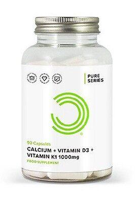 Bulk Powders - CALCIO + VITAMINE D3 E K1 - 90 Capsule - Salute delle ossa