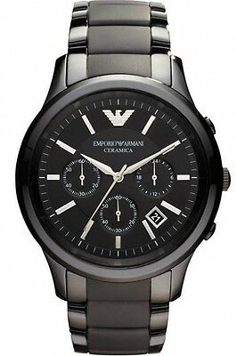 ** NEW **Emporio Armani® watch AR1451 Mens Black Ceramica