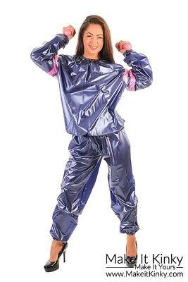 PVC Unisex Sauna Suit - Plastic Exercise Suit - Shiny (Kostüm Sauna)