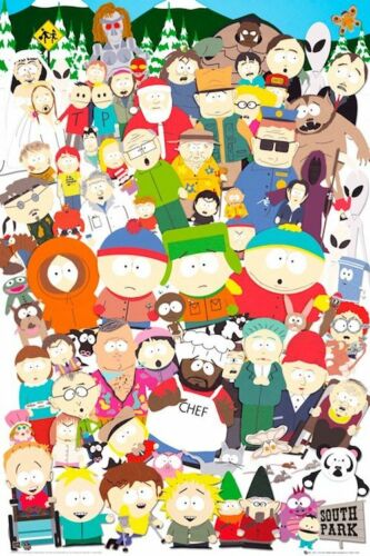 SOUTH PARK - CHARACTER COLLAGE POSTER 24x36 - 2435