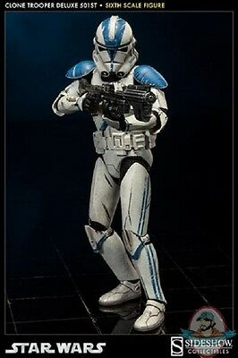 1/6 Sixth Scale Star Wars Clone Trooper Deluxe 501st Sideshow Collectibles (Clone Trooper 1 6)