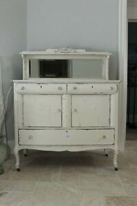 Beautiful Antique Mirror Back Sideboard
