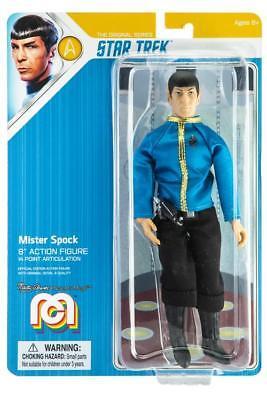 MR SPOCK Dress Uniform, live long hand new MEGO STAR TREK 8 inch ACTION - Mr Spock Uniform
