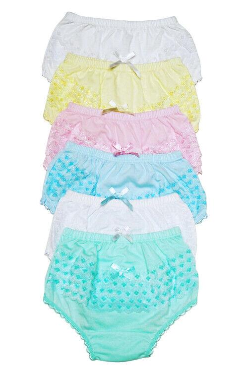 4 girls ruffle panties kids toddler underwear