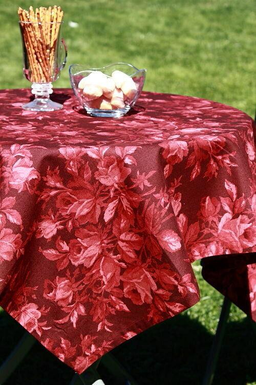 Gartentischdecke Tischwäsche Rosenmeer rot