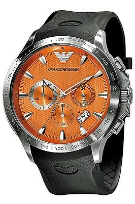 ** NEW **Emporio Armani® watch AR0652 , Orange , mens CHRONOGRAPH
