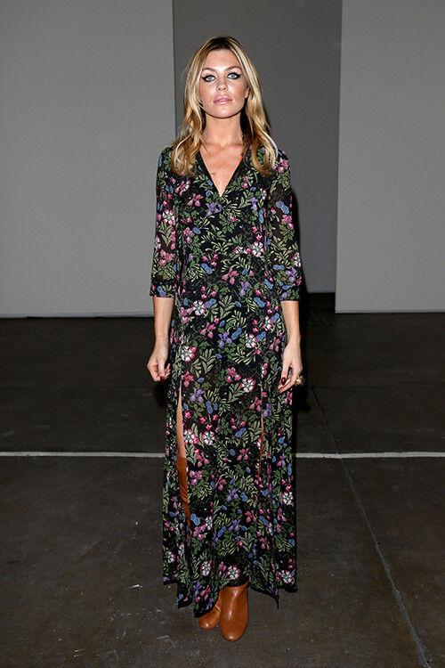 Abbey Clancy rocks a floral maxi dress