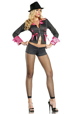 Be Wicked Sexy Pimp Halloween Costume Sz S/M , M/L NIP Jacket & - Halloween Costume Jackets
