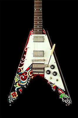 Jimi Hendrix Gibson Psychedelic Flying V Collectible Guitar -  #19 of 300