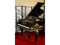 Gemstone Collection Luxury Art Case Ebony Ornate Steinway M with Pearls and Rubies