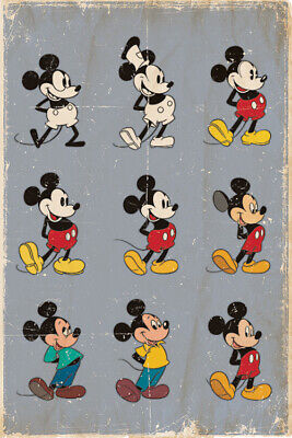 MICKEY MOUSE - CHARACTER EVOLUTION POSTER 24x36 - DISNEY 53125 - Mickey Mouse Poster