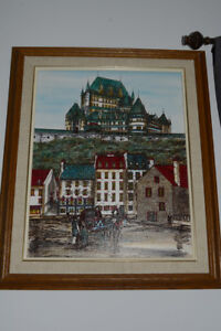 Large pen and ink of Old Quebec.