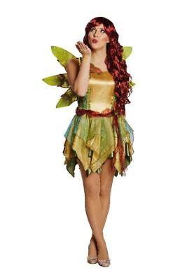 Mot - Damen Kostüm Elfe Waldfee Karneval  Fantasy Feenkostüm