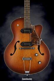 Godin Kingpin II electro semi acoustic guitar (otional hard case)