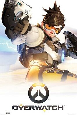 OVERWATCH TRACER POSTER Blizzard Gamer Video Game Poster