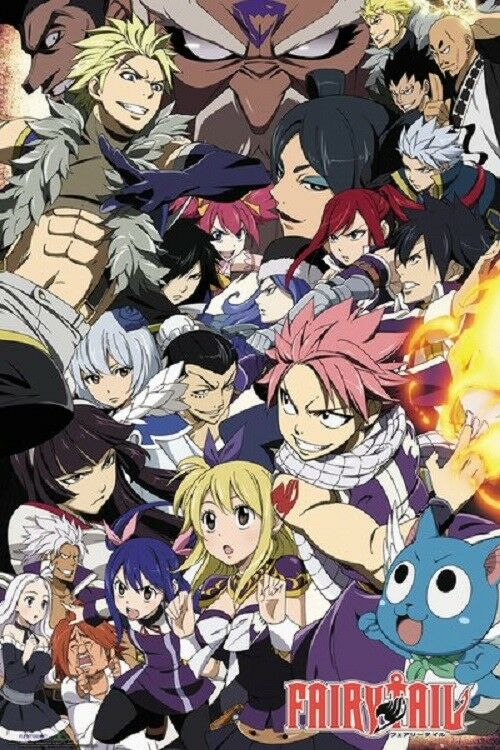 FAIRY TAIL vs GUILDS ANIME POSTER, Size 24x36