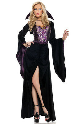 NWT sexy BE WICKED vampire MISTRESS of the NIGHT dracula HALLOWEEN party COSTUME
