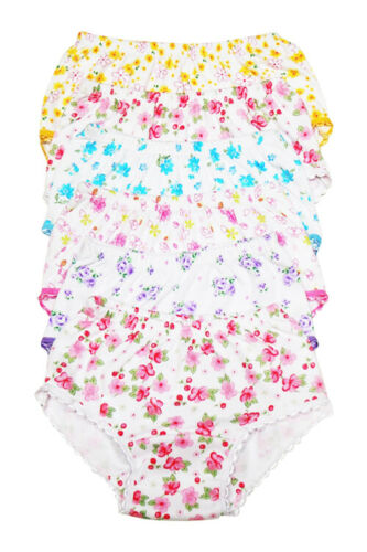 4 Girls Panties Kids Preteen Toddler Underwear Cotton Solid and Prints Size 1-12