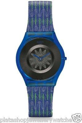 - Swatch Watch For The Love of Patterns Skin Collection 2014 Breezy Feather SFS102