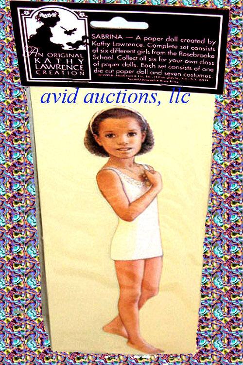"SABRINA PAPER DOLL NIP Kathy Lawrence 8.5/"" Doll 7 Outfits WE SHIP WORLDWIDE!"