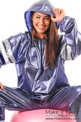 PVC Unisex Hooded Sauna Suit - Plastic Exercise Suit - Shiny (Kostüm Sauna)