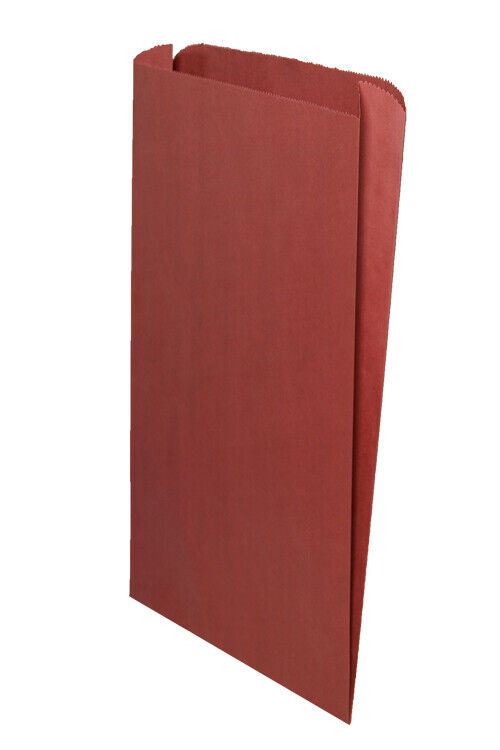 **Closeout Price** 500 Red Gusseted Paper Merchandise Bags 14 x 3 x 21