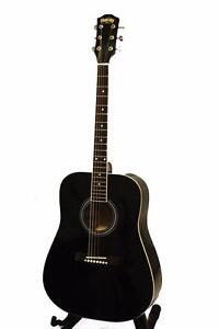 Black Acoustic Guitar for beginners 41 inch iMusic578 iMusicGuitar