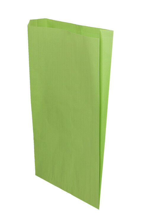 **Closeout Price** Lime Green Flat Paper Merchandise Bags 14 x 3 x 21 (500 ea)