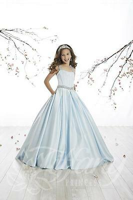 Authentic Tiffany Princess 13510 Blue Sky Girls Pageant Gown Dress Sz 8 NWT - Girls Tiffany Blue Dress