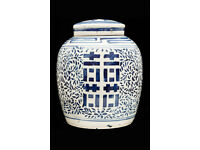 CHINESE PORCELAIN ANTIQUE GINGER JAR - 19th CENTURY