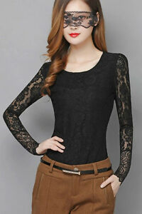 BRAND NEW Black Lace Long Sleeve Top with Embroidered Back Kitchener / Waterloo Kitchener Area image 3
