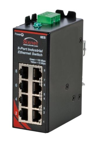 Sixnet SLX-8ES-1 8-Ports Unmanaged Industrial Ethernet Switch *New*