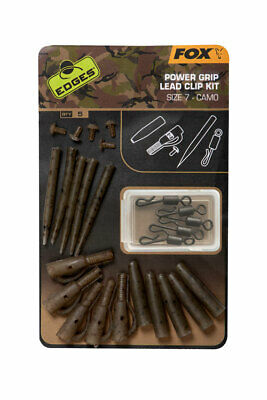 Fox Edges Camo Power Grip Lead Clip Kit Sz  7 Karpfenangeln NEW OVP