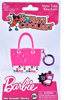 Super World's Coolest Barbie PINK TOTE BAG Keychain Smallest Bookbag - Barbie Book Bag