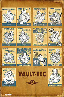 24x36 FALLOUT 4 SURFACE NEVER VAULT FOREVER RECRUITMENT POSTER