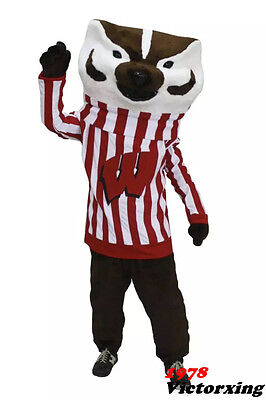 Deluxe Bucky Badger Mascot Costume Mr Fox Costume Free Shipping](Badger Mascot Costume)