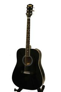 Acoustic Guitar 41 inch Full Size Black Steel string, dreadnought guitar iMusic578