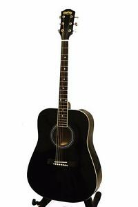 Acoustic Guitar black 41 inch brand new for beginners iMusicGuitar
