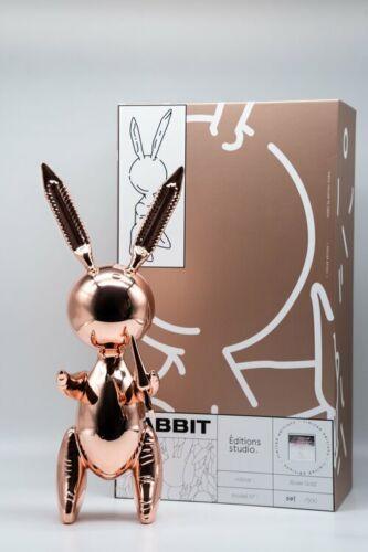Rose gold balloon rabbit XL -(limited /500-Mint condit + COA)- no kaws no banksy
