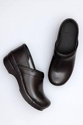 Dansko Womens Professional Clog - Black Box Leather EU 36 US 5.5-6 ()