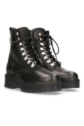 PS Poelman Veterboot leer Zwart